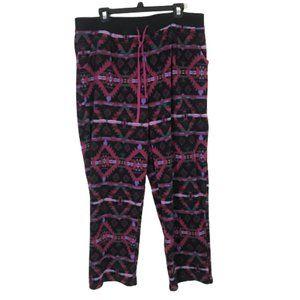 Cuddl Duds Pink Purple Fleece PJ Lounge Pants XXL